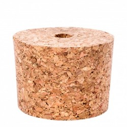 Natural cork 45/37 hole 8 mm