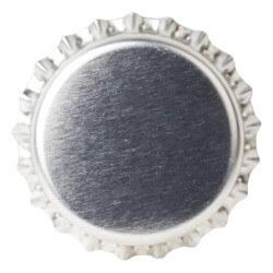 Crown caps 26mm SILVER 50pcs
