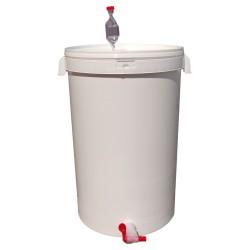 Biały fermentor 42L z rurką fermentacyjną i kranikiem
