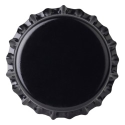 Crown caps 26mm BLACK 50pcs