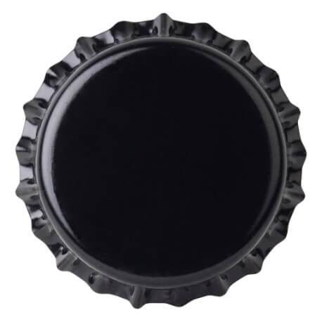 Crown caps 26mm BLACK 50pcs