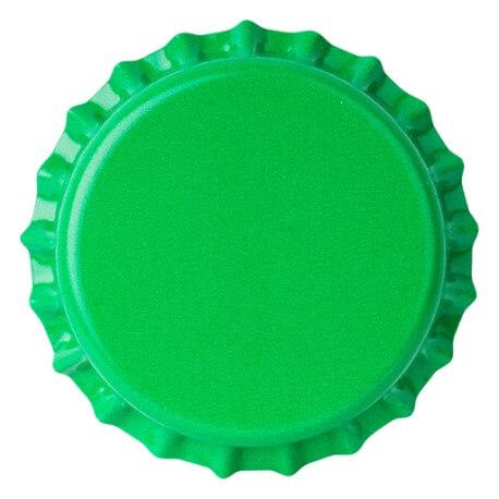 Crown caps 26mm GREEN 50pcs