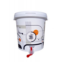 White fermentation bucket 15L with tap