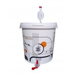 Biały fermentor 33L z rurką fermentacyjną i kranikiem