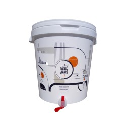 White fermentation bucket 33L with tap