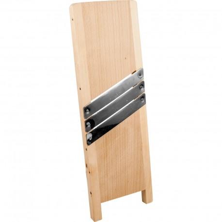 Szatkownica drewniana, 45x15 cm, 3 ostrza