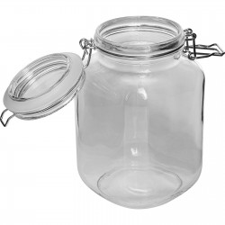 Square jar with hermetic closure - 2 L