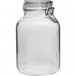 Square jar with hermetic closure - 3 L