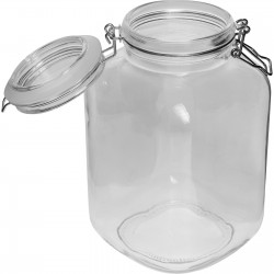 Square jar with hermetic closure - 4 L
