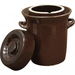Stoneware / fermenting crock pot 5l with water seal and lid