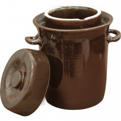 Stoneware / fermenting crock pot 10l with water seal and lid