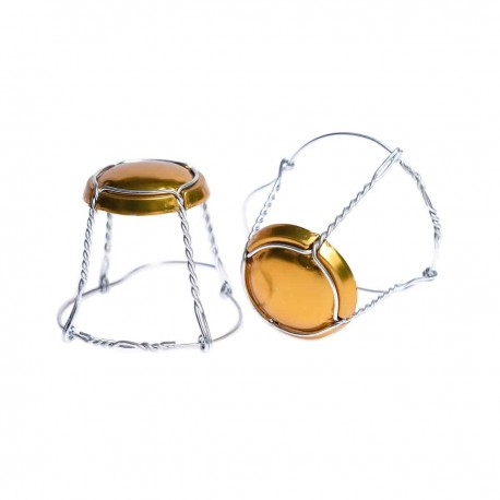 Basket for closing sparkling wines gold 50 pcs