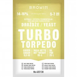 Distillery yeast TURBO Torpedo 5-7days