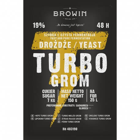Distillery yeast TURBO Grom 48h