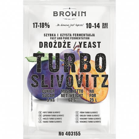 Distillery yeast TURBO Slivovitz