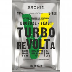 Distillery yeast TURBO reVOLTa 5-7 days