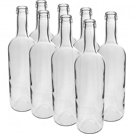 Wine bottle 0,75L white 8pcs