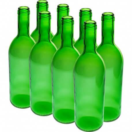 Butelka na wino 0,75L zielona 8szt