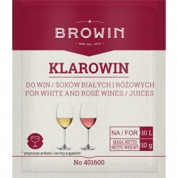 Klarowin fining agent for white and rose wines